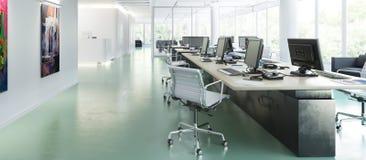 Office Furnishing 01 panoramic. 3d visualization royalty free illustration