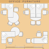 Office furniture. Set from elements of office furniture Stock Image