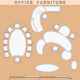 Office furniture. Set from elements of office furniture Royalty Free Stock Photos