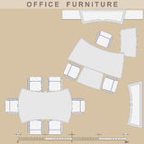 Office furniture. Set from elements of office furniture Stock Photo