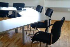 Office furniture. Office room with table chairs and telefone Royalty Free Stock Photos