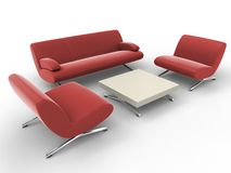 Office furniture royalty free illustration