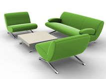 Office furniture stock illustration
