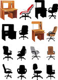 Office furniture collection Stock Photos