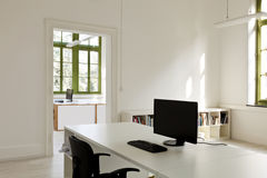 Office with furniture, computer Royalty Free Stock Image