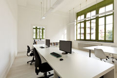 Office with furniture, computer. Interior, office with furniture, computer stock image