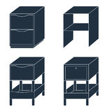 Office furniture. Document storage with drawers. Vector illustra Stock Images