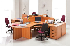 Office furniture. In the interior stock image
