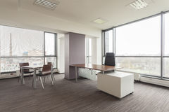 Office furniture. New office interior with a modern furniture royalty free stock images
