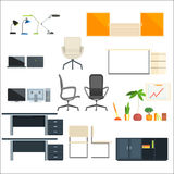 Office Furniture And Objects Collection Stock Photos