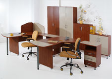 Office Furniture. Set of office furniture on an isolated studio background Royalty Free Stock Photos