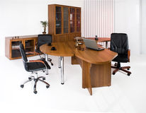 Office Furniture. Set of office furniture on an isolated studio background royalty free stock images