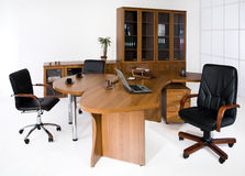 Office Furniture. Set of office furniture on an studio background royalty free stock photos