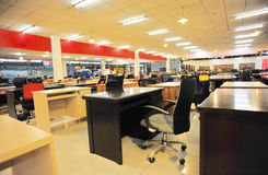 Office furniture shop. Interior of office furniture shop royalty free stock photo