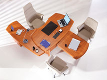 Office furniture top view Stock Images
