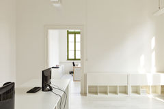 Office with furniture white Stock Images