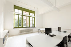 Office with furniture white Stock Photo