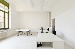 Office with furniture white. Interior, office with furniture white royalty free stock photography