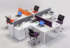 Office furniture on a white background Royalty Free Stock Image