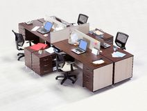 Office furniture on a white background Stock Photography