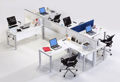 Office furniture on a white background. For personnel royalty free stock photos