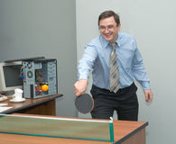 Office games Royalty Free Stock Photos