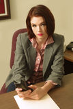 Office girl stock image