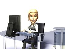 Office girl Royalty Free Stock Images