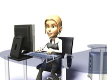 Office girl Stock Photos