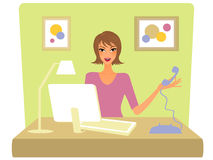 Office girl Royalty Free Stock Photos