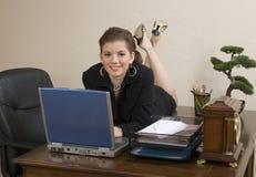 Office Girl stock photos