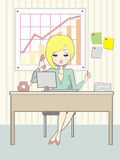 Office_girl Royalty Free Stock Photo