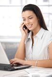 Office girl busy working Stock Image