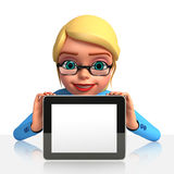 Office Girl with ipad Stock Photos