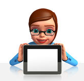 Office Girl with ipad Royalty Free Stock Photo