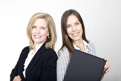 The Office Girl and the Lady Boss Royalty Free Stock Images