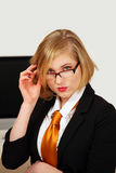 Office girl looking Royalty Free Stock Images