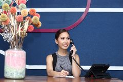 Office Girl, Receptionist, Clark, and asian business woman Royalty Free Stock Photography