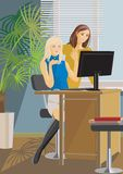 Office girls Stock Image