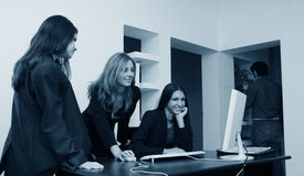 Office Girls Royalty Free Stock Photos