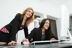 Office Girls Stock Photo