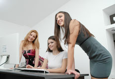 Office girls 3 Royalty Free Stock Image