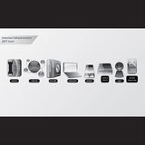 Office Glass Icon. Infrastructure icon set for internet. useful for web icon, info-graphic, etc Royalty Free Stock Image