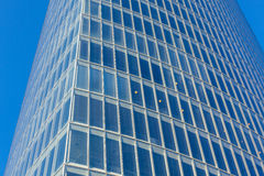 Office glass skyscraper building. Horizontal filtered shot Royalty Free Stock Images