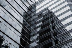 Office glass windows background Stock Photo