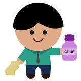 Office glue Royalty Free Stock Images