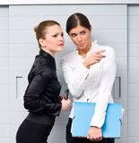Office gossip Royalty Free Stock Photo
