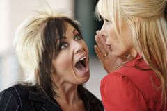 Office Gossip Royalty Free Stock Photography