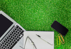 Office on grass Royalty Free Stock Photography
