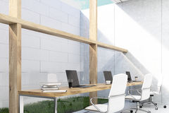 Office with grass Royalty Free Stock Images